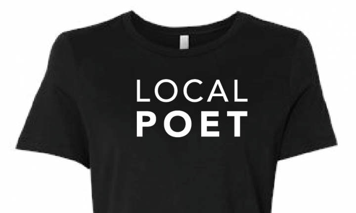 Local Poet black t-shirt